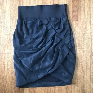 Elizabeth and James black fitted draped skirt